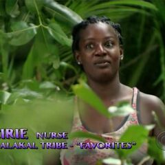 Cirie giving a confessional.