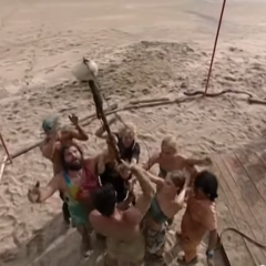 Drake after winning their first Immunity Challenge showing a cocky attitude to the Morgan tribe.