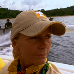 Tina Wesson in the premiere episode of <i>All-Stars</i>.