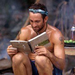 John reading a book.