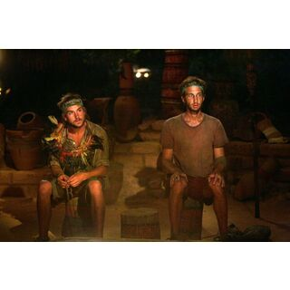 Stephen at the Final Tribal Council with J.T..
