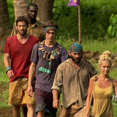 The Final Five heading out the penultimate Immunity Challenge