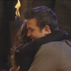 Aras hugs Danielle after winning