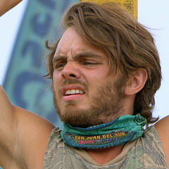 Wes competing in his last immunity.