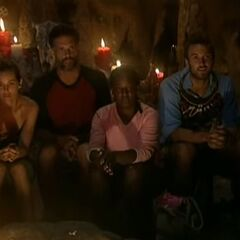 The final 4 at Tribal Council.