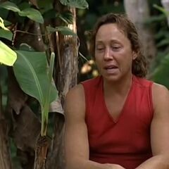 Sue upset after the last challenge.