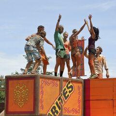The new Gota tribe wins Immunity.