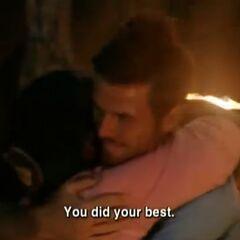 Cirie hugs Aras.