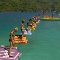 The castaways compete for immunity and a clue to the <a href=
