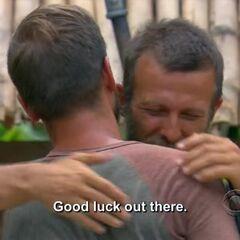 Vytas says goodbye to his brother Aras.