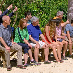 The loved ones watching the contestants compete.