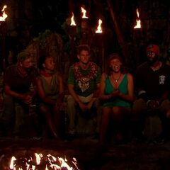 The final seven at Tribal Council.