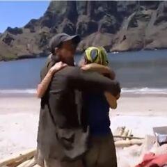 The Maraamu tribe hugging with Rob.