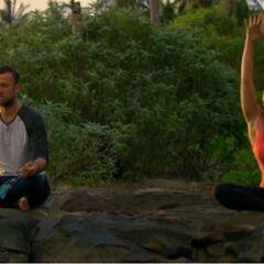 Vytas doing yoga with <a href=