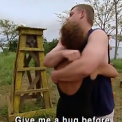Twila hugs her son, James after losing the final 7 Immunity Challenge.
