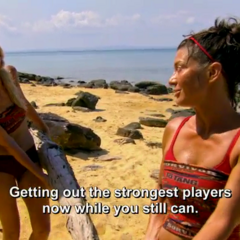 Alecia strategizes with Jennifer.
