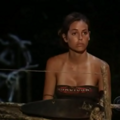 Danielle at the fire making challenge