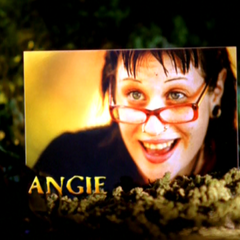 Angie's photo in the opening intro.