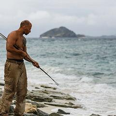 Tony spearfishing.