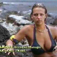 Sarah making a <a href=