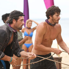 Jeremiah and LJ at the 3rd Immunity Challenge.