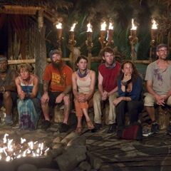 The newly formed Bikal tribe attending their first Tribal Council.