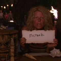 Sunday votes against Michaela.
