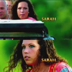 Sarah in the opening credits.