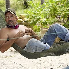 Keith laying an a hammock.
