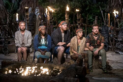 Vanua-tribe-at-tribal-council-survivor-millennials-vs-gen-x-episode-5-cbs y7ucsl