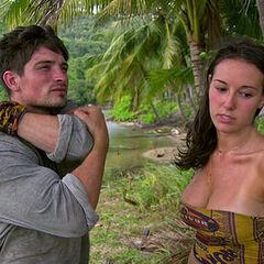 Anna and Caleb strategizing.