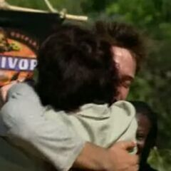 Aras hugs his mom.