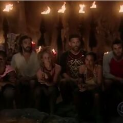 The final 6 at Tribal Council.