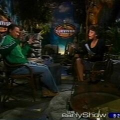 Bobby being interviewed for <i>The Early Show</i>.
