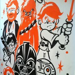 A <i>Star Wars</i> painting.
