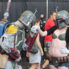 Boba Fett and Mrs. Fett.