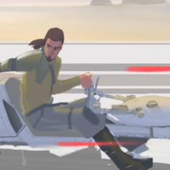 Kanan speeder bike concept art