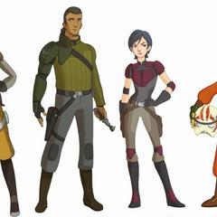 Hera with the crew (concept art)