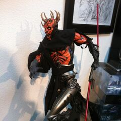 Darth Maul is having a bad horn day.