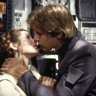 Between Han Solo and Luke Skywalker, Carrie says Han is the better kisser.