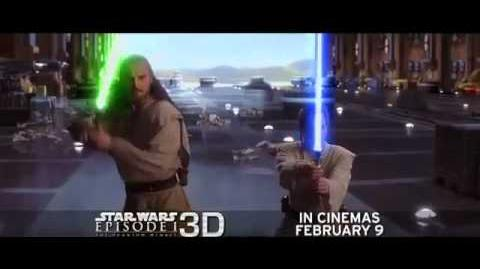 TV Spot For 'Star Wars Episode I -- The Phantom Menace 3D'