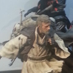Obi-Wan in the form of Alec Guinness.