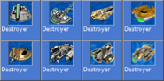 Destroyer icons