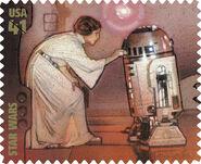 Stamp Leia R2-D2