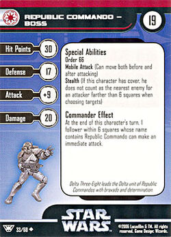 33 CF Card Republic Commando - Boss