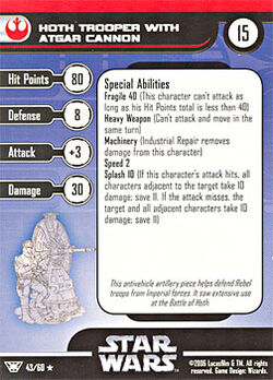 43 CF Card Hoth Trooper with Atgar Cannon