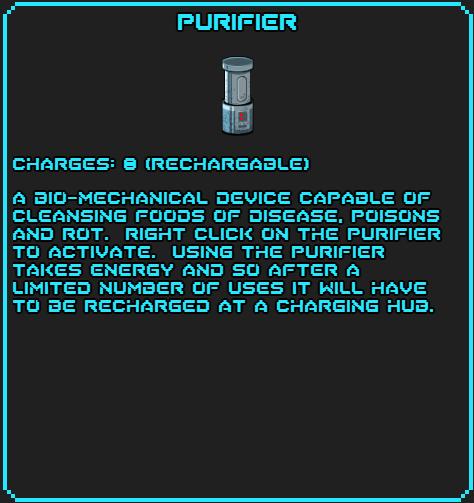 Purifier info
