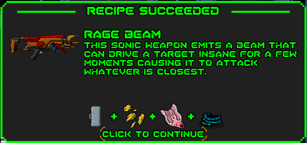 Rage beam-recipe