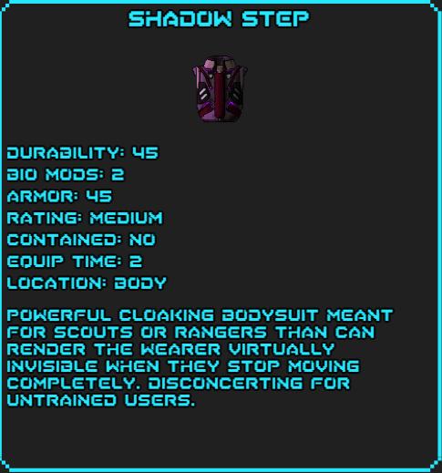 Shadow Step Sotsdex