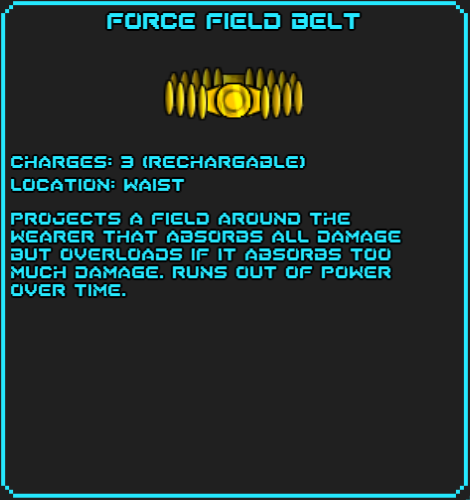 Force Field Belt Data